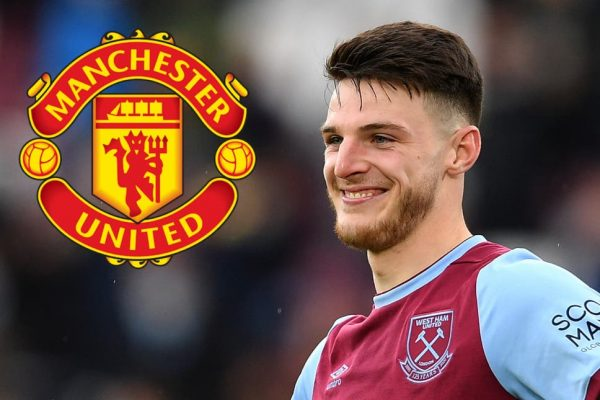 Manchester United ended interesting Declan Rice